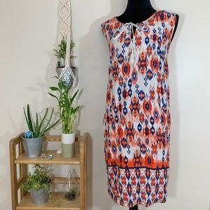 BLL New York Aztec pattern sleeveless dress 2X